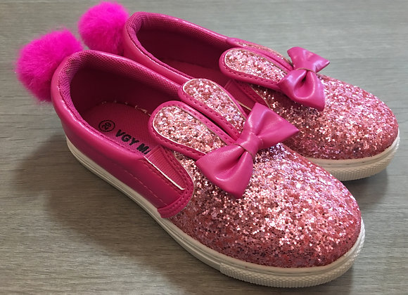 Fusia Pink Bunny Style Sneakers