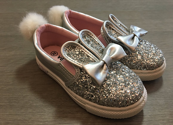 Silver Bunny Style Sneakers