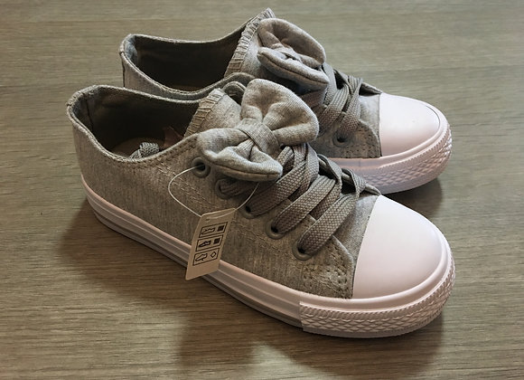 Grey Sporty Bows Sneakers