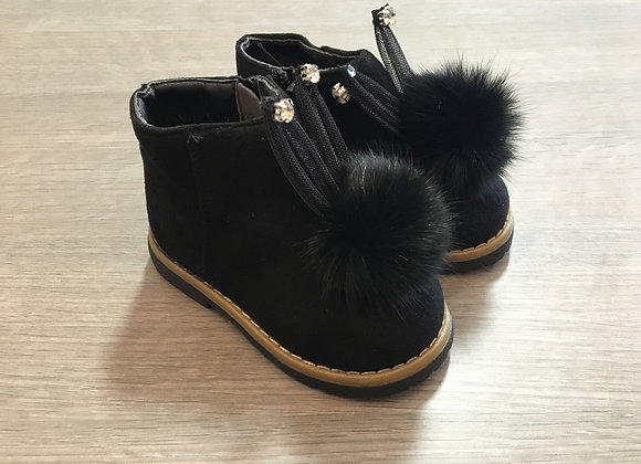 PomPom Black Boots