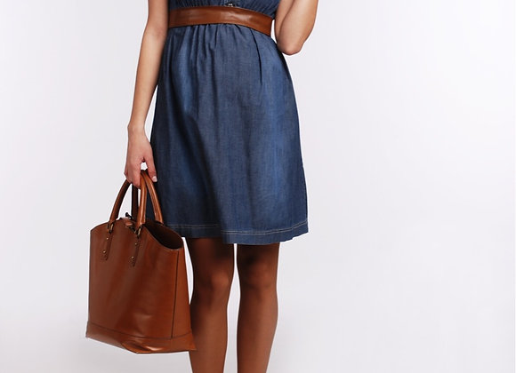 Jeans Style dress with Brown belt