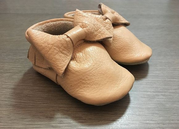 Minimocca Latte moccasins with Bows