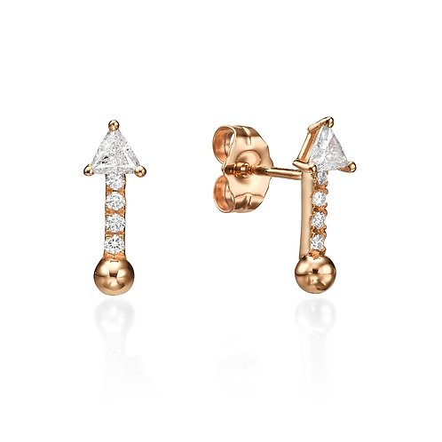 Bullet Earrings Rose Gold