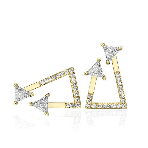 Lily & Rose Earrings 4 Trilliant cut Diamonds