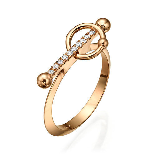 La Balance Bar Ring Rose Gold