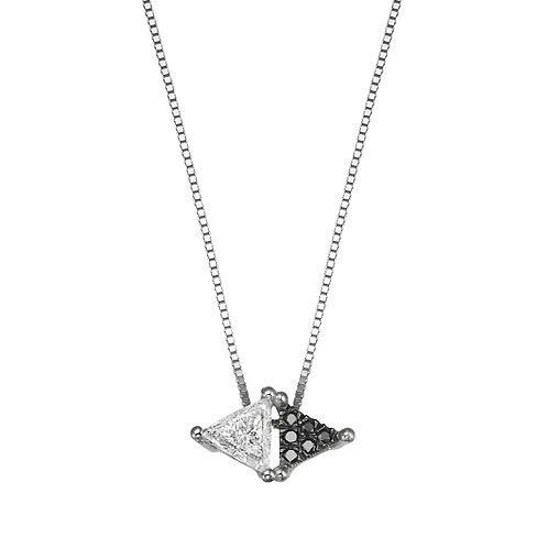 Black & White Spéculum Necklace White Gold