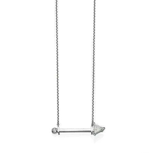 Dotty Necklace White Gold
