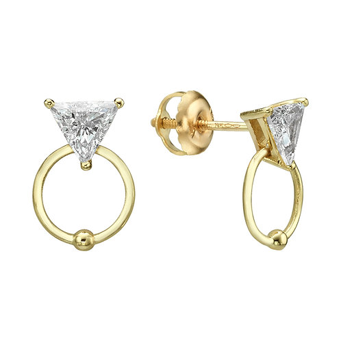 My Diamond Stud Earrings Yellow Gold