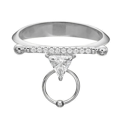 La Balance Ring White Gold