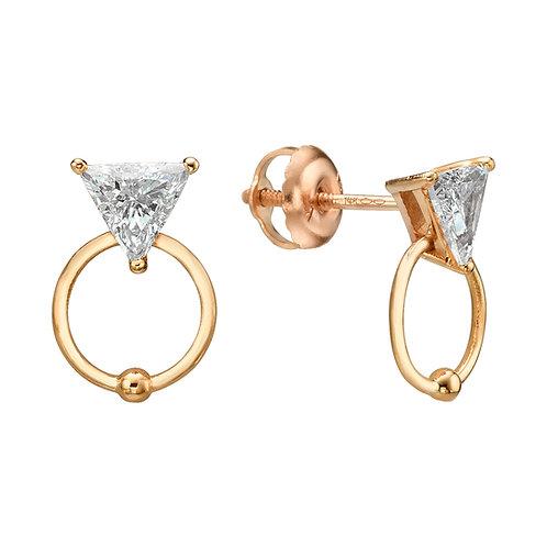 My Diamond Stud Earrings Rose Gold