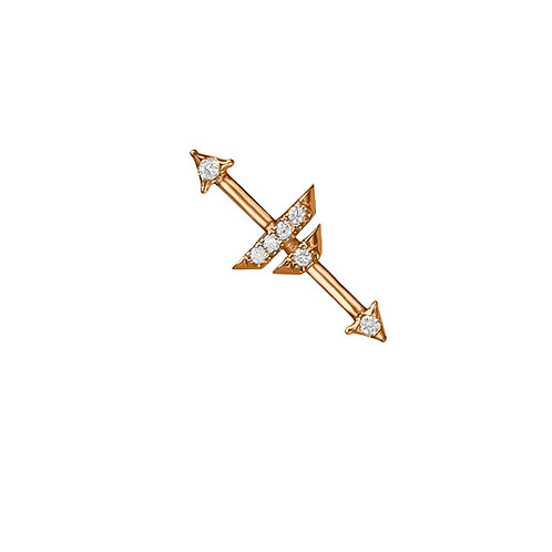 Compass of my heart earring Rose Gold