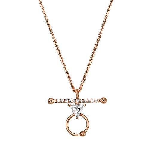 La Balance Necklace Rose Gold