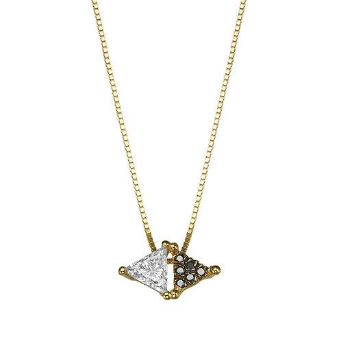Spéculum Necklace Black & White Diamonds