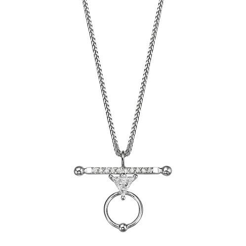 LA BALANCE Necklace White Gold