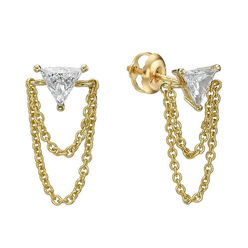 Chiara Stud Earrings Trilliant cut Diamonds
