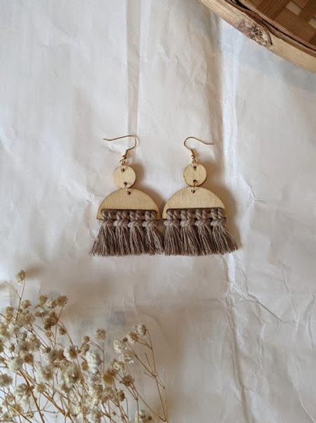 Boucles d'oreilles en bois