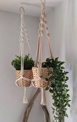 suspension plantes macramé jura