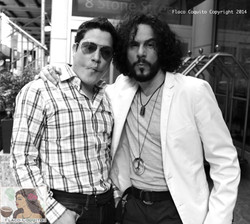 Posing here with Frankie Negron