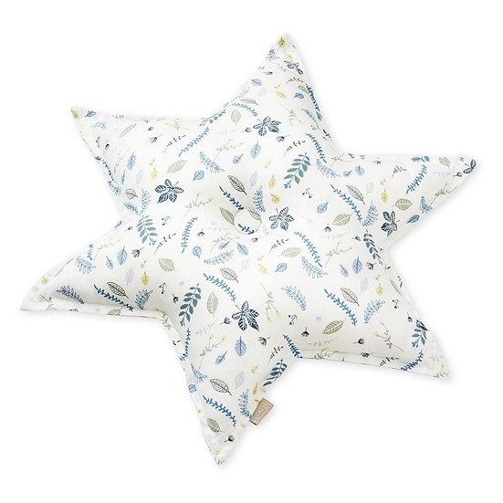 כרית כוכב - פרחוני כחול