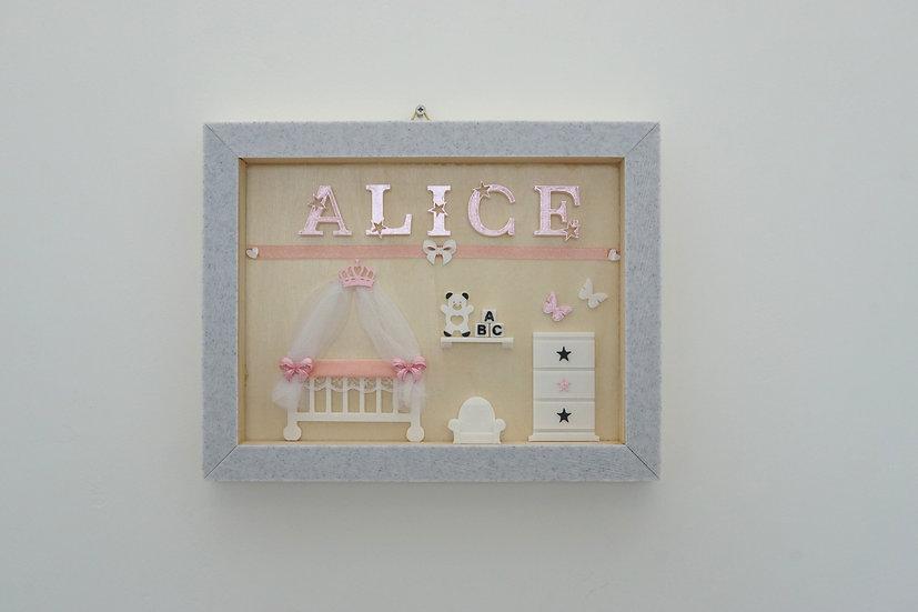 עיצוב שם התינוק - דגם Nursery