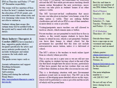 IPM News Friday 20th November 2020