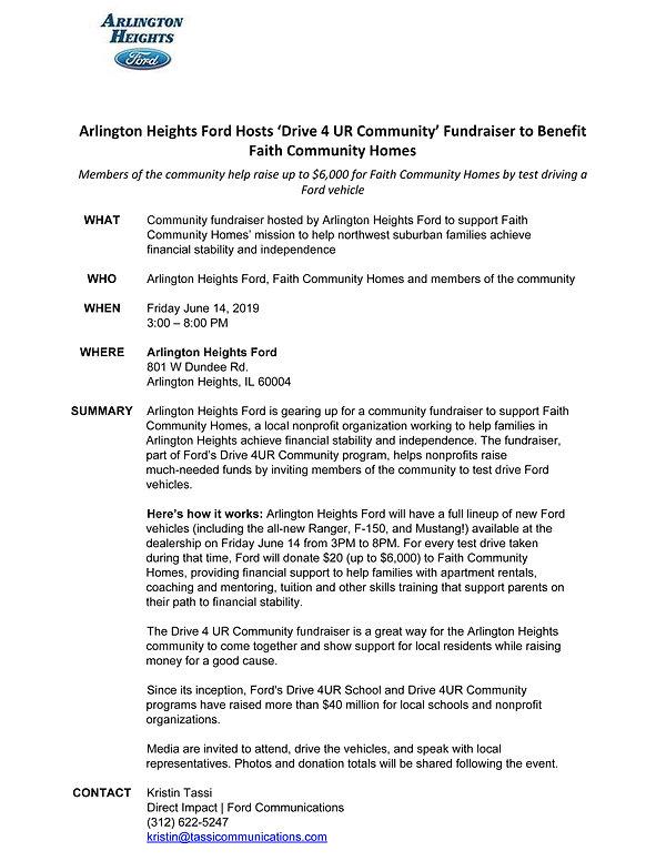 Media Alert_Arlington Heights Ford D4URC