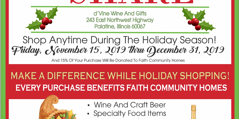 Shop & Share at d'Vine Wine & Gifts