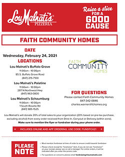 Faith Community Homes Malnatis Fundraise