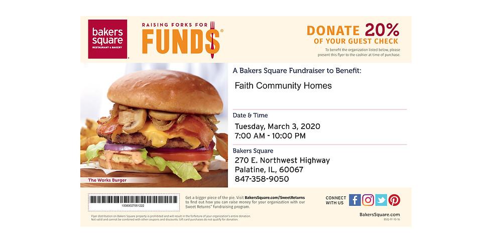 Raising Forks for Funds at Baker's Square for FCH