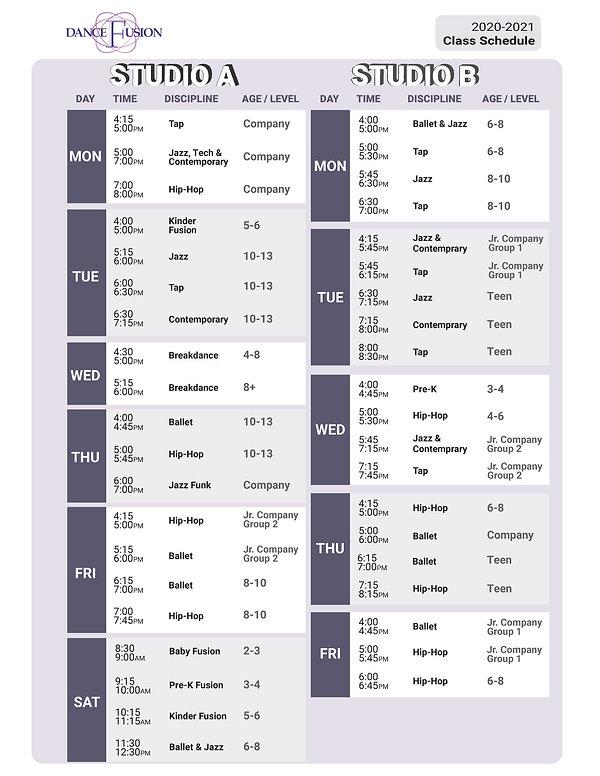 Dance Fusion_Class Schedule_2020-2021-01