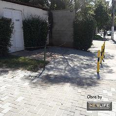 restauração de calçada