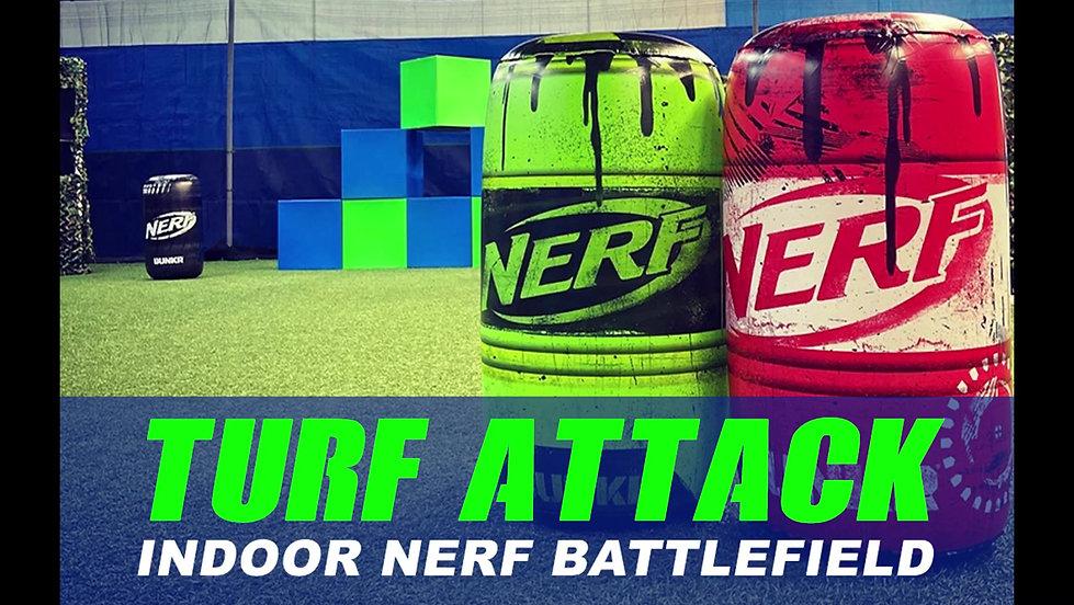 Nerf Battle at Turf Attack