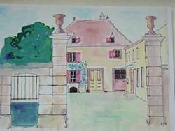 aquarel ma maison