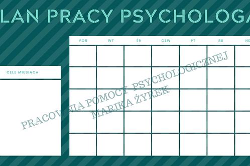 Miesięczny plan pracy psychologa