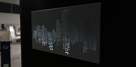 Perforowany, podświetlany panel ścienny