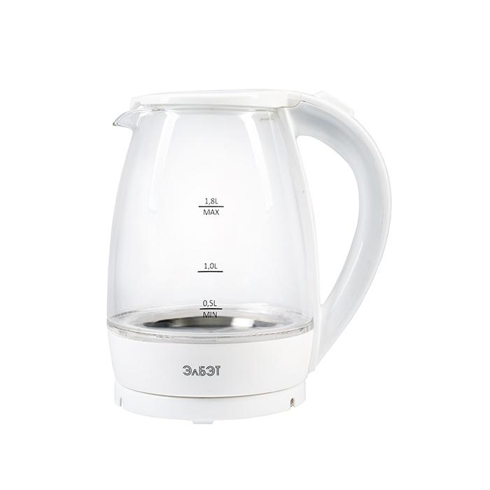 Белый Стеклянный Чайник 1.8л
