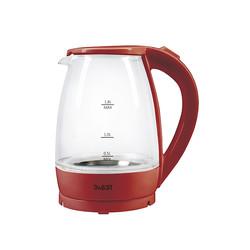 Красный Стеклянный Чайник 1.8л