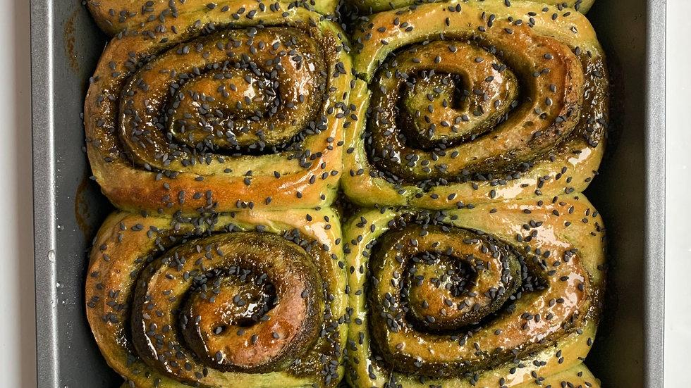 matcha sticky buns (4 count)