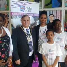 With the Mayor and Jennifer Obaseki of Obaseki Solicitors