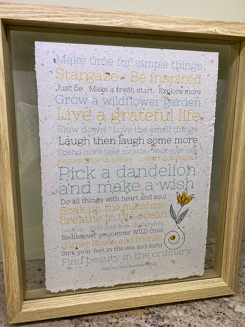 A4 Wild Ivy Child Manifesto ( paper colour: natural )