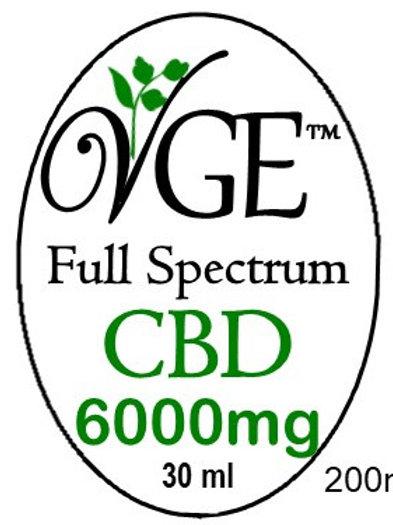 Sublingual CBD 6000 mg Drops 30ml