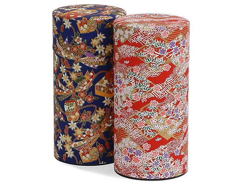 Washi Paper Tea Canister & 12 Assorted Tea Bags