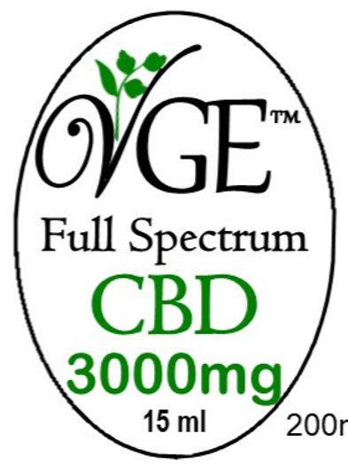 Sublingual CBD 3000 mg Drops 15ml