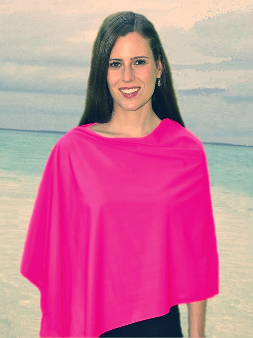 Solaire Wear UPF50+ Cape - Hot Pink
