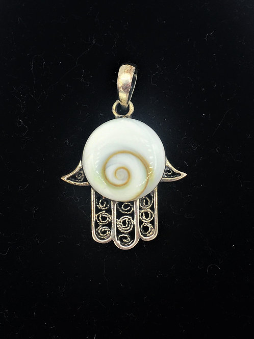 Shiva Eye and Sterling Hand Pendant