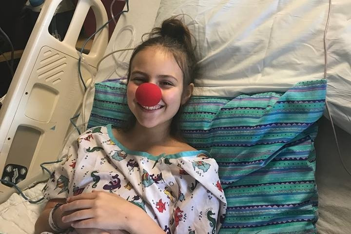 Local 5th grader, Syndi Brown, is all smiles undergoing medical treatment for cancer.