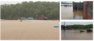 The damaging effects of the flooding of the Seneca Baseball Fields in 2017.