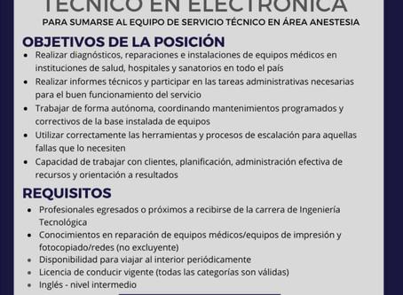 The Mare Group busca Técnico en Electrónica