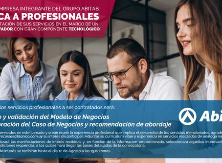 Convocatoria de servicios profesionales