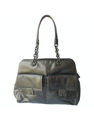 Bottega Venta black leather